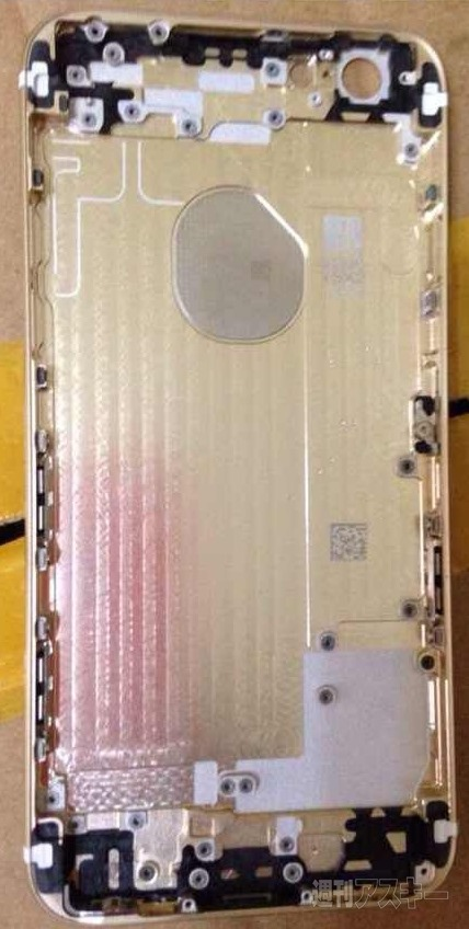 gold iPhoen 6 rear shell internal