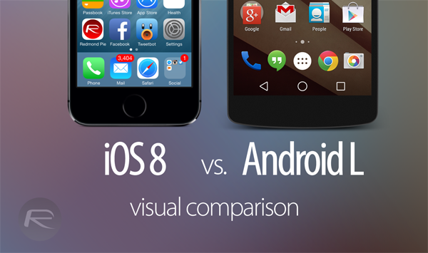 iOS 8 vs Android L visual main
