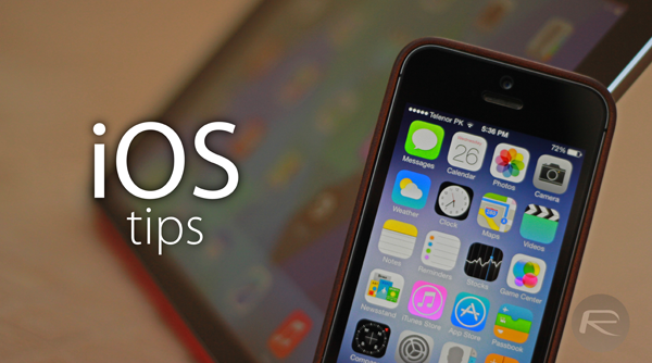 iOS tips