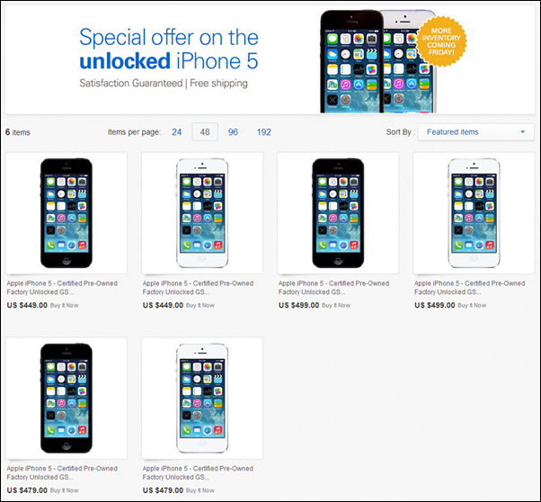 iPhone 5 ebay store