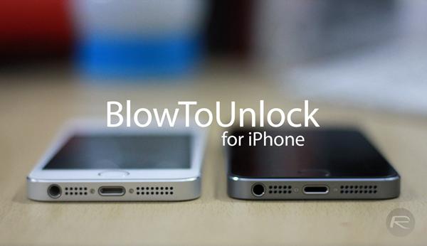 BlowToUnlock iPhone main
