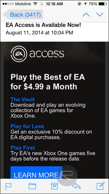 EA Access iOS