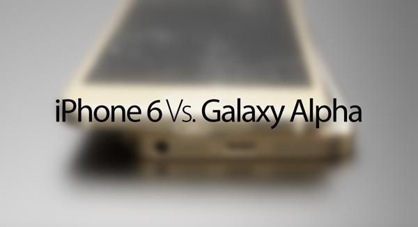 Galaxy Alpha vs iPhone 6 main