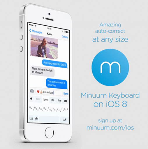 Minuum keyboard iOS 8