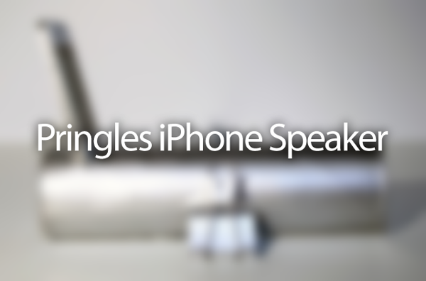 Pringles iPhone speaker
