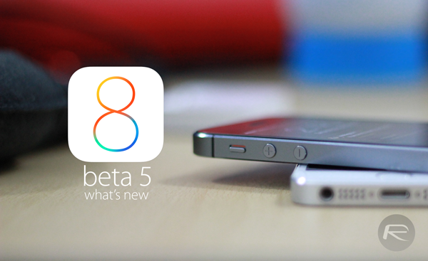 iOS 8 beta 5 new main