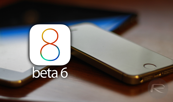 iOS 8 beta 6 main