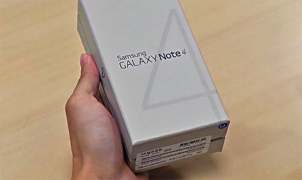 Galaxy Note 4 unboxed