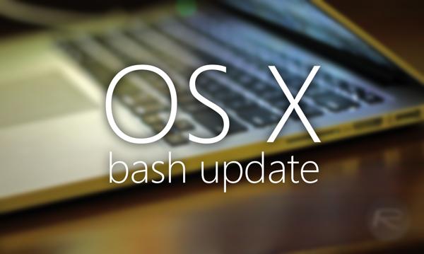 OS X bash update main