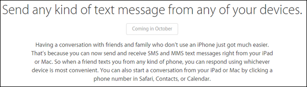 October SMS