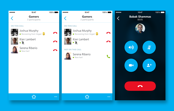 Skype for iPhone group calling