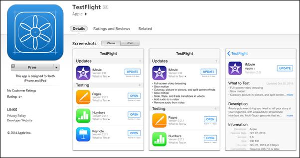 TestFlight App Store