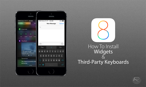 Widgets Keyboards iOS 8 main
