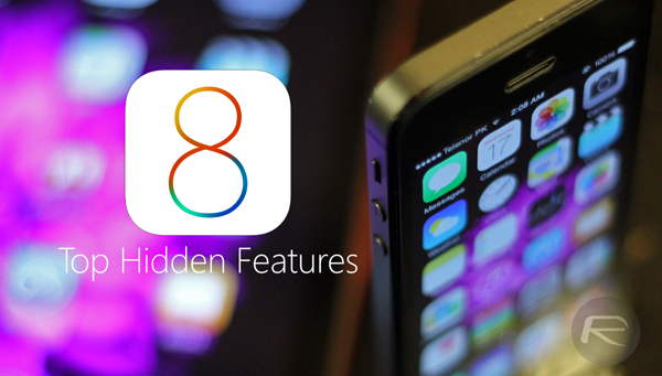 iOS 8 hidden features main