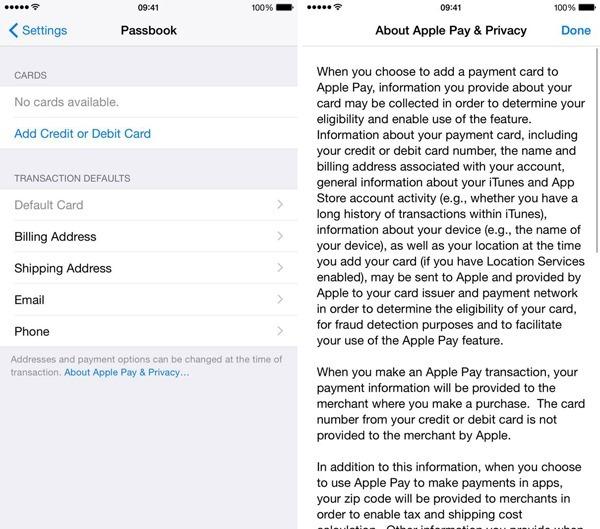 iOS 81 apple pay