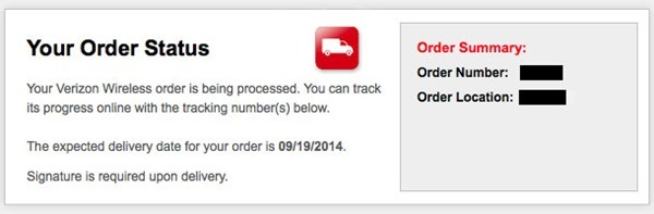 iPhone 6 shipment