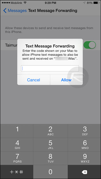 How To Use SMS Forwarding In iOS 8 1 On iPhone, iPad And