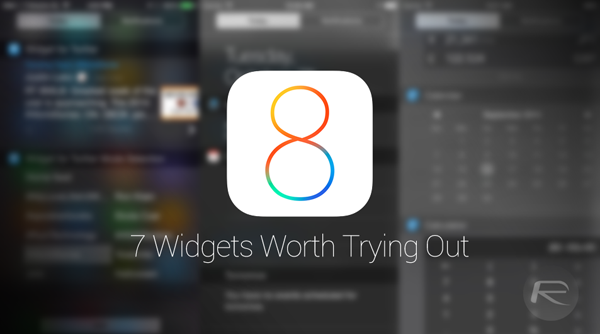 7 new iOS 8 widgets