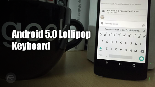 Android 5.0 lollipop Google Keyboard 4