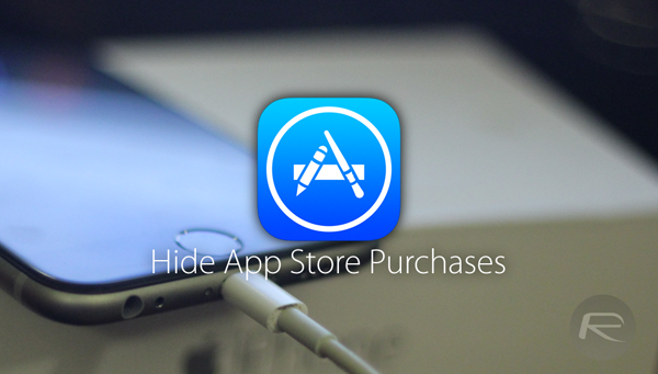 App Store purchases hide main