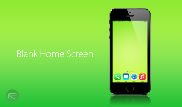 Blank Home Screen main