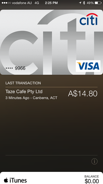 Citibank australia apple pay
