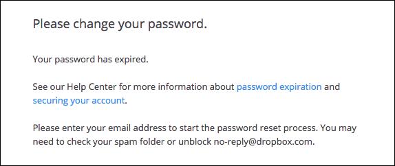 Dropbox mail