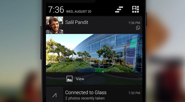 Glass notifications