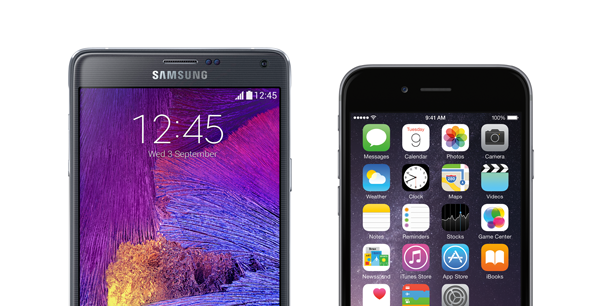 Note 4 vs iPhone 6