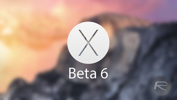 OS X Beta 6