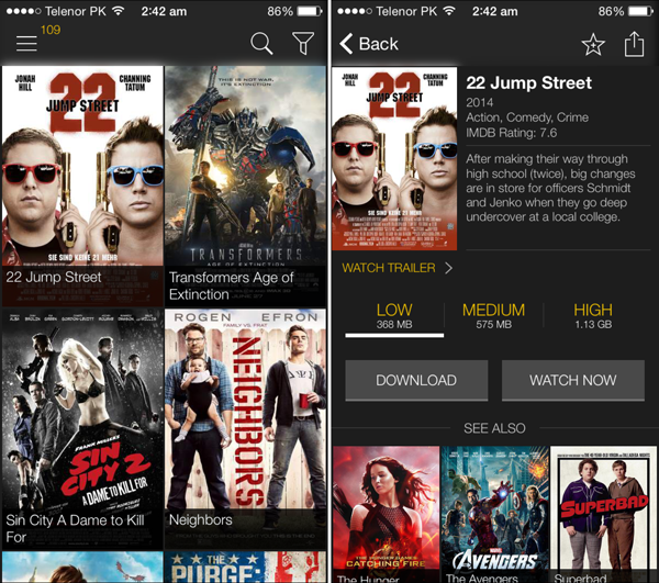 This Popcorn Time Like Streaming App For iOS Does Not