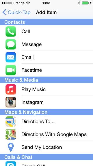 Quick Tap iOS 8 Widget (1)