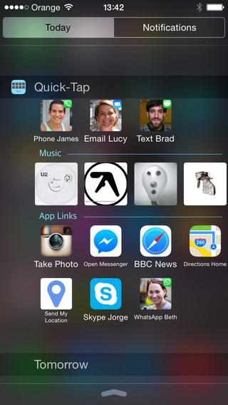 Quick Tap iOS 8 Widget (2)