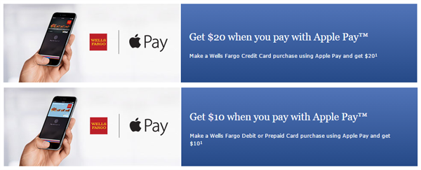 Wells Fargo Apple Pay reward