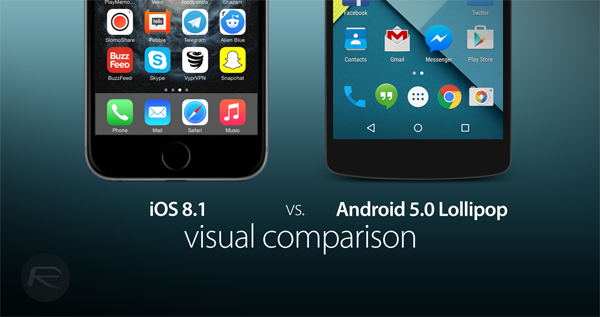 iOS 81 vs Lollipop comparison
