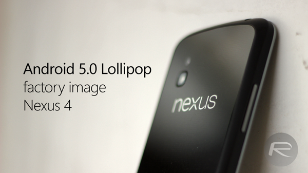 Android 5 lollipop nexus 4 main