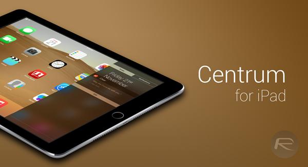 Centrum for iPad main