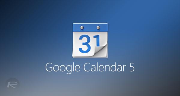 Google Calendar 5 main