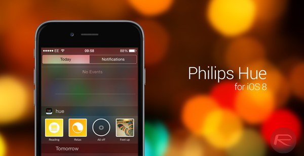 Philips hue ios 8 main