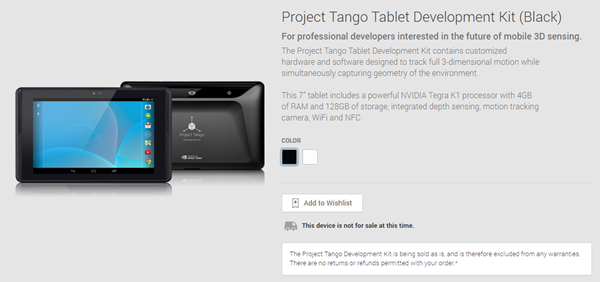 Play Store Project Tango main