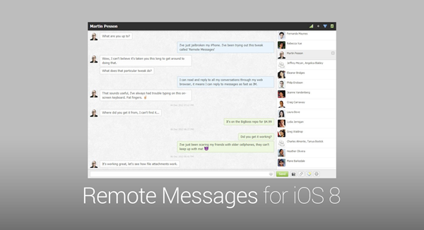 Remote Message iOS 8 main