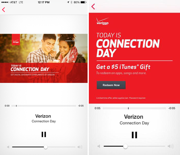 Verizon iTunes Radio