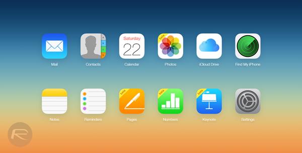 iCloud main site