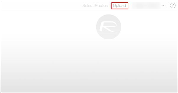 iCloud photo upload