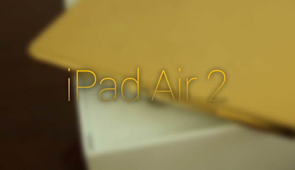iPad Air 2 gold main