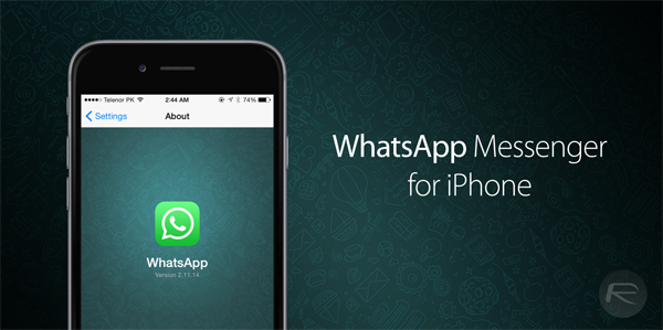 whatsapp for iPhone main