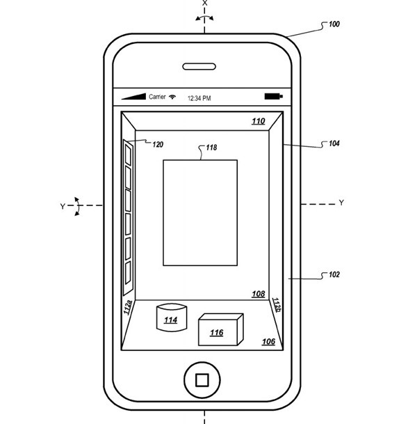 Apple 3d iphone patent