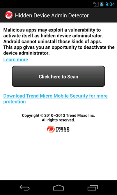Remove hidden apps android