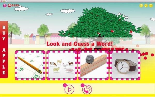 Look and guess a word