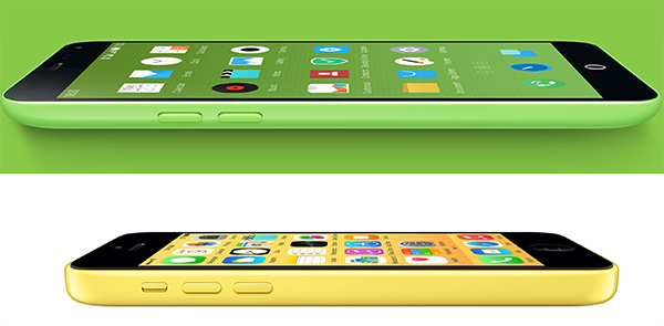 Meizu iPhone 5c yellow green
